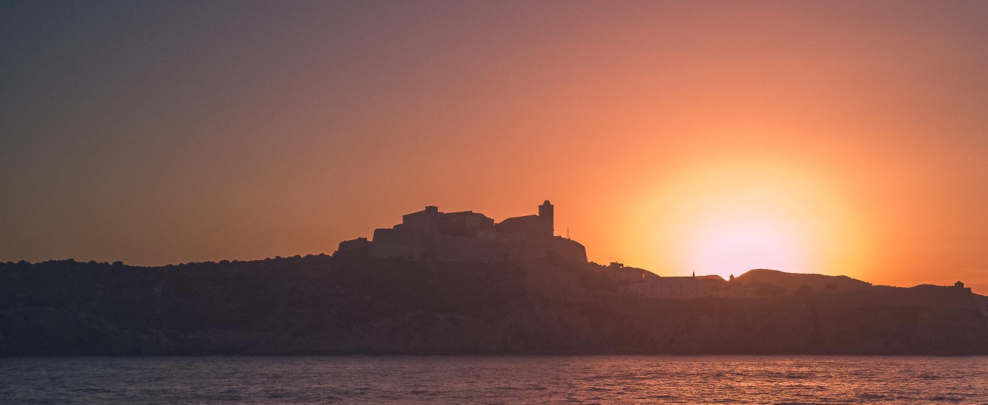 Atardecer en Ibiza. Fotografía móvil