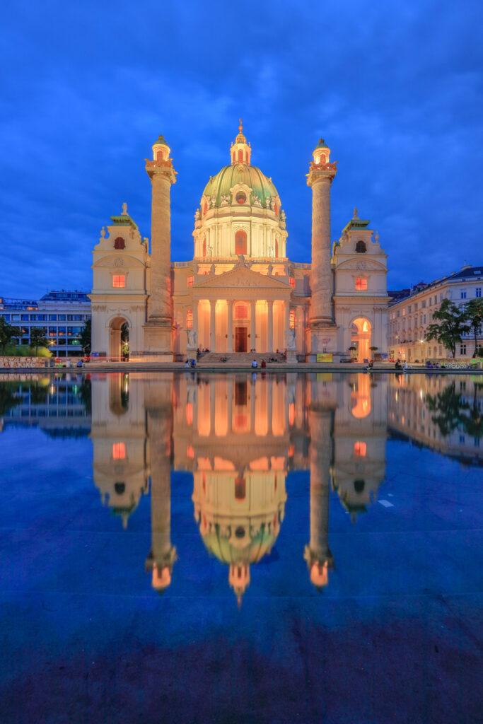 iglesia de  Karlskirche, Viena